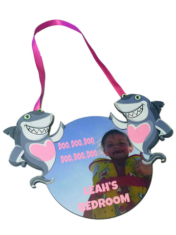 Shark Girls Personalised Bedroom Door Plaque