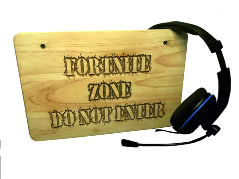 Fortnite Zone Do Not Enter Deep Engraved Wall Door Sign Plaque
