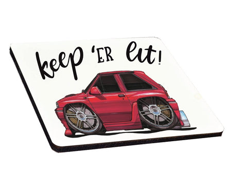 Keep 'er Lit Koolart Vauxhall Nova coaster Car Boy Racer Rally