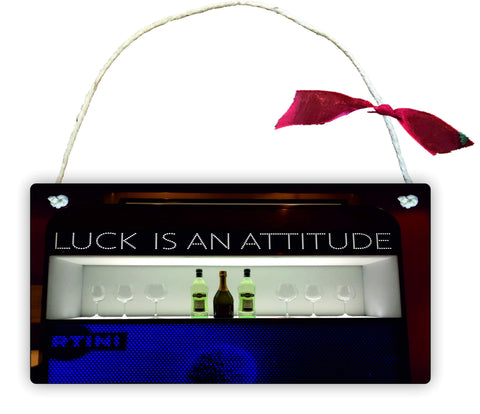 GP64 Gift Hanging Wall Door Sign Plaque Decoration Luck is An Attitude