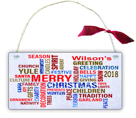 GP87 Gift Hanging Wall Door Sign Plaque Decoration Personalised Christmas Quotes