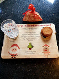 Personalised Christmas Eve Santa Treat tray photo & name