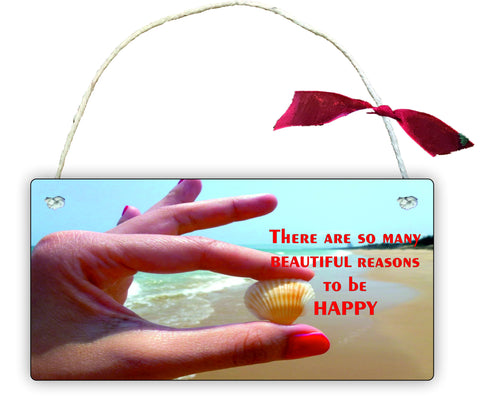 Gift Hanging Wall Door Sign Plaque Decoration there are so many reasons to be happy GP23
