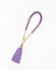 Violet Ombré Prayer Beads - 33