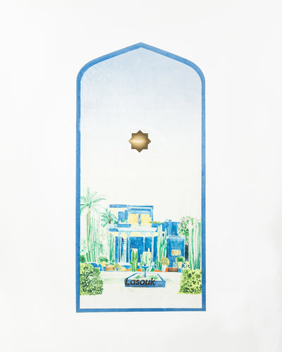 L'Art du Jardin Majorelle Prayer Mat - Home