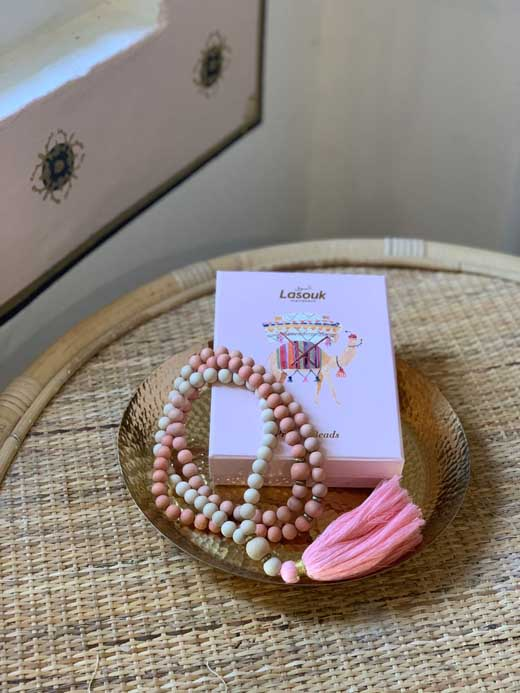 Pink Ombré Prayer Beads