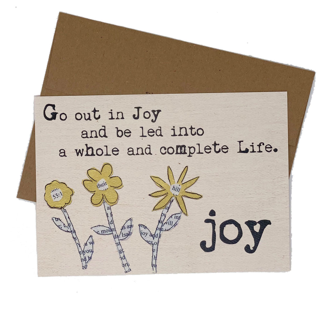 JOY--Go Out in Joy