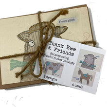 Load image into Gallery viewer, Thank Ewe & Friends Card Set (Little One)