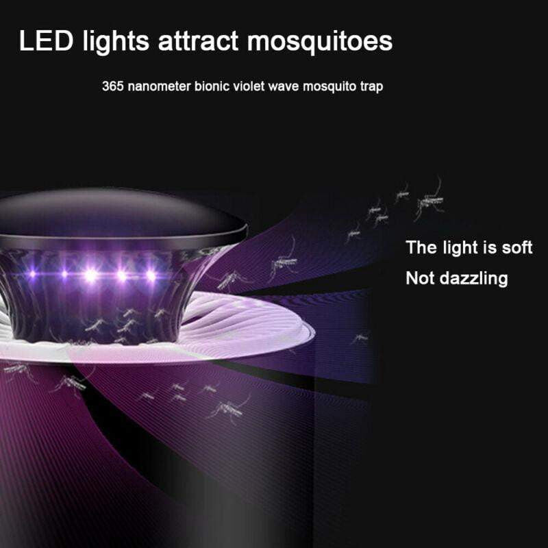 Electric Mosquito Insect Killer USB Powered LED Light Trap Lamp