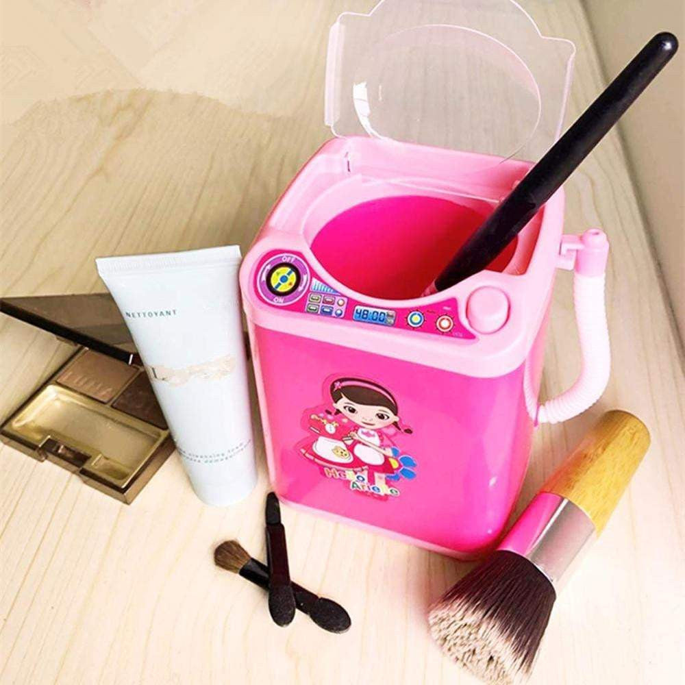 Mini Washing Machine Makeup Brush Cleaner Dollhouse Toy