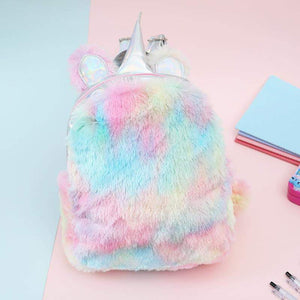 Unicorn Backpack Girls, Plush Fur Unicorn Backpack