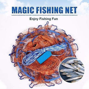 Magic Fishing Net Cast Net EZ Throw Sinker Included