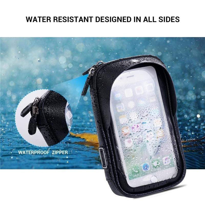 Waterproof Motorcycle Phone Mount Holder Bag