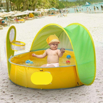Baby Beach Tent - Baby Pool With Shade - Children Pool Tent With Sun Shelter