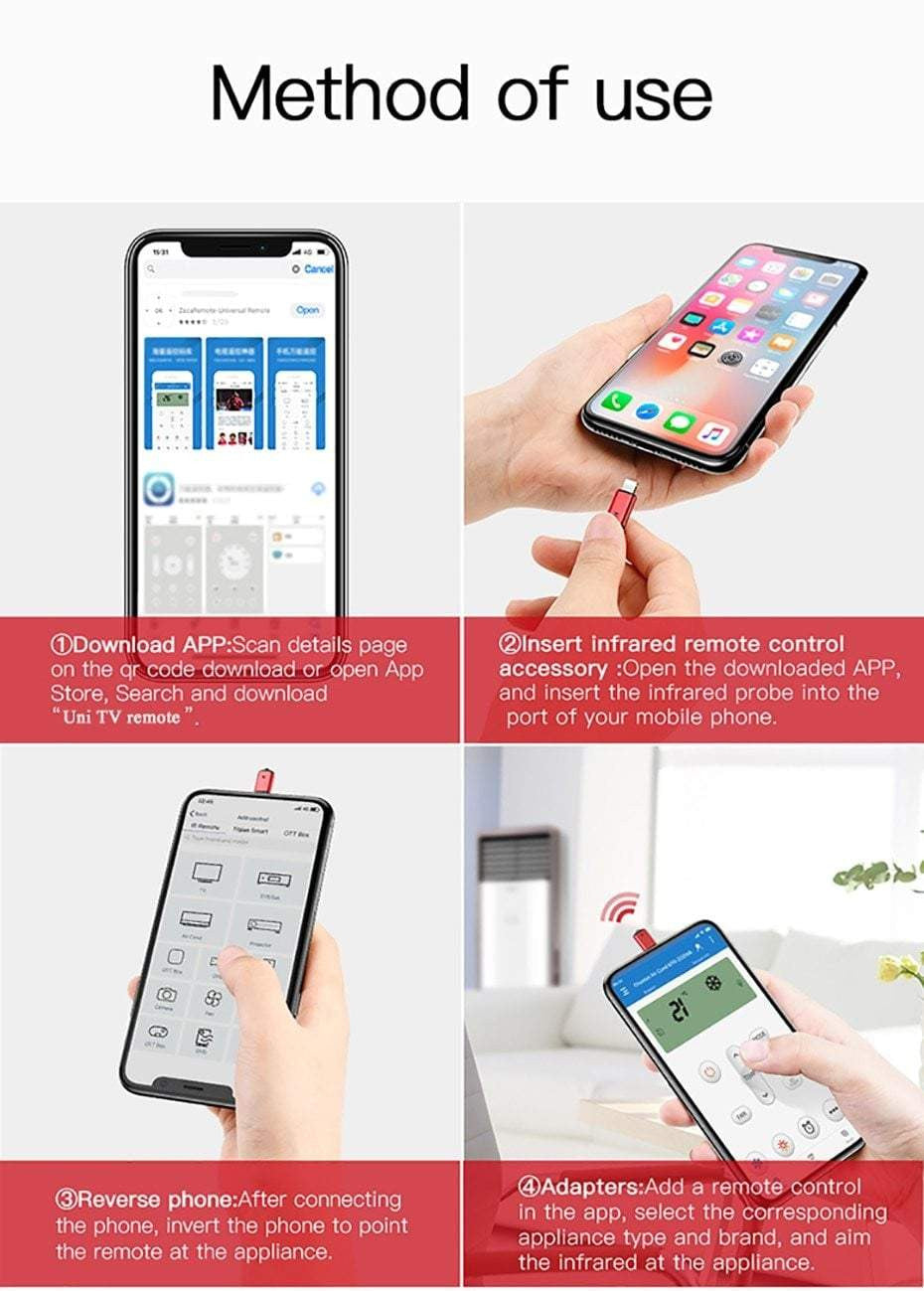 iPhone IR Wireless Smart Remote Control