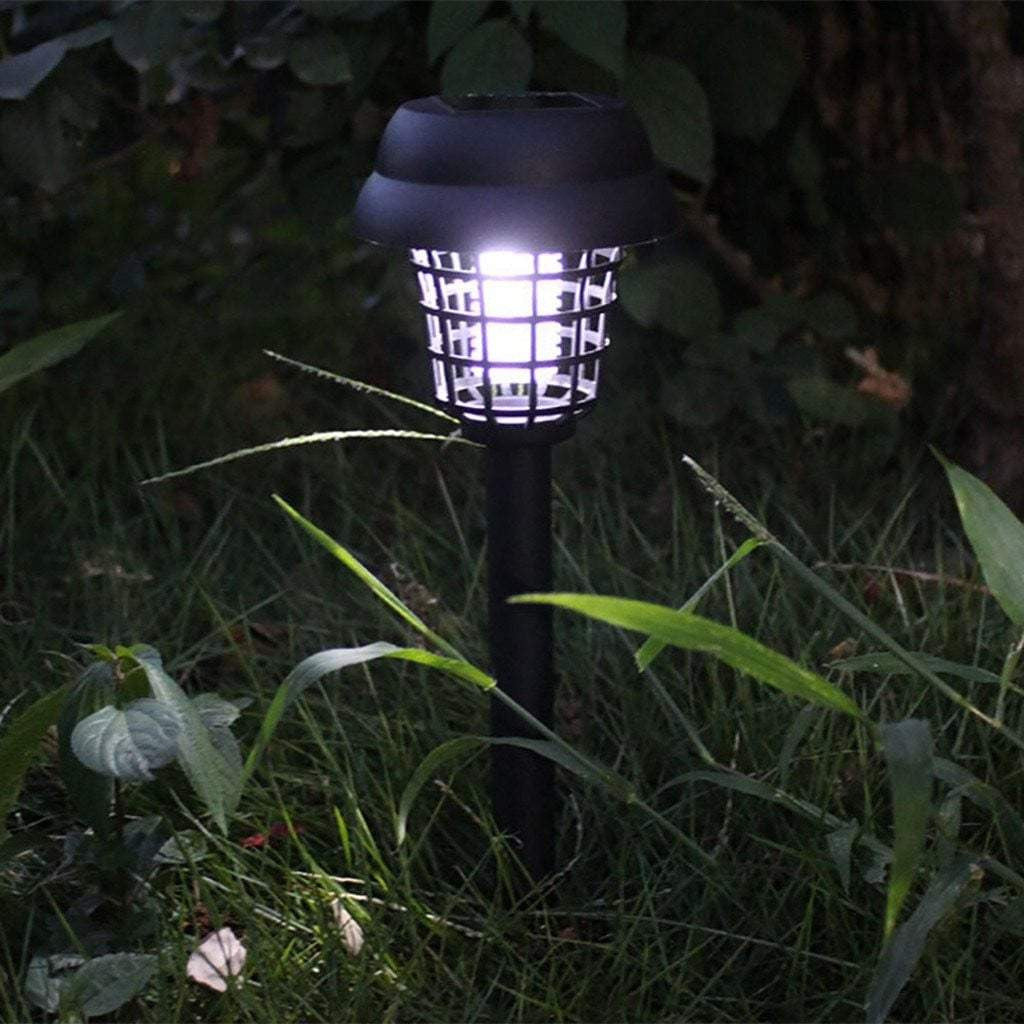 4 Solar Powered LED Light Pest Bug Zapper Insect Mosquito Killer Lamp