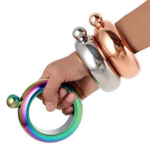 Portable Flask Alcohol Bangle Bracelet 3.5oz