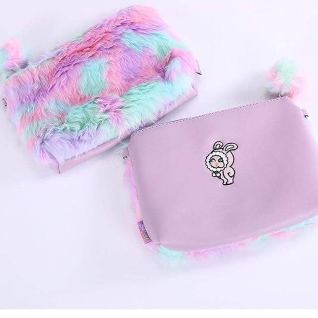 Unicorn Backpack Plush Fur for Girls