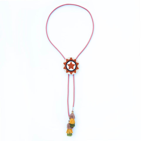 Shrinky Dink Quirky Bolo Tie by Livingston Made