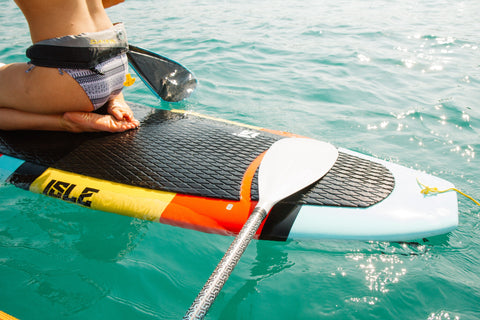traction deck pad on sup board