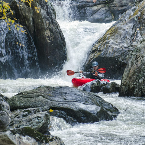 whitewater kayaking paddle hard