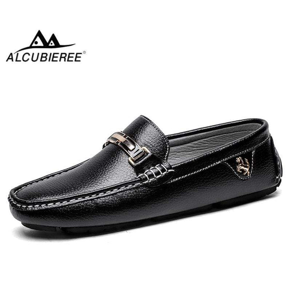 ALCUBIEREE Leather Boat Shoes
