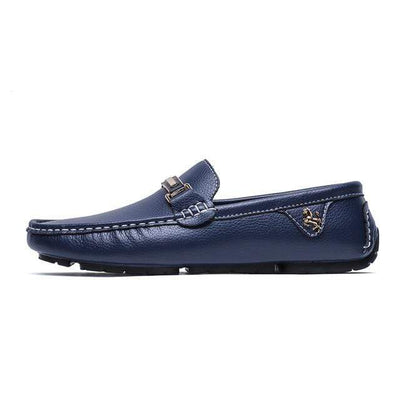 Blue / 6 ALCUBIEREE Leather Boat Shoes  -  Cheap Surf Gear