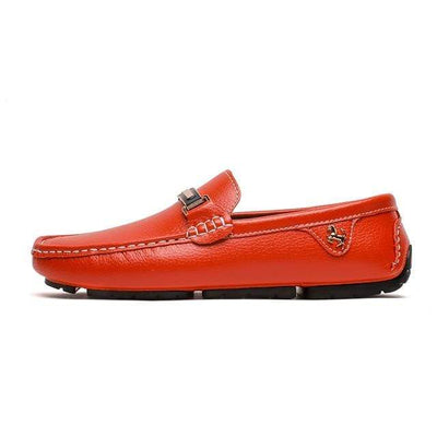 Orange / 6 ALCUBIEREE Leather Boat Shoes  -  Cheap Surf Gear