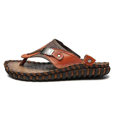Brown / 6 ALCUBIEREE Mens Flip-Flops  -  Cheap Surf Gear