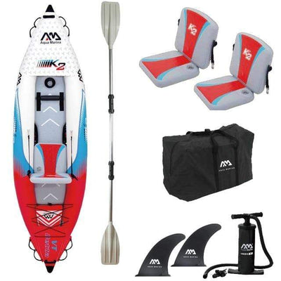 1 person x paddle A AQUA MARINA Two Person Kayak  -  Cheap Surf Gear