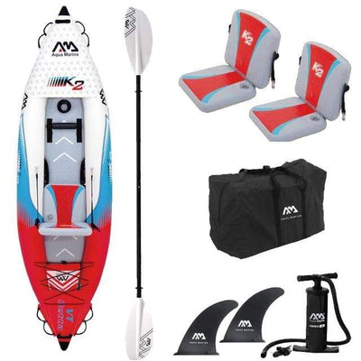 1 person x paddle B AQUA MARINA Two Person Kayak  -  Cheap Surf Gear