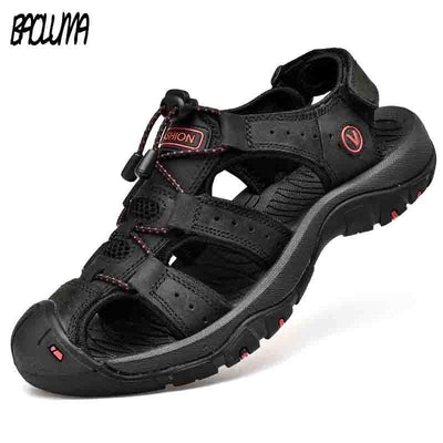 BAOLUMA Mens Black Sandals  -  Cheap Surf Gear