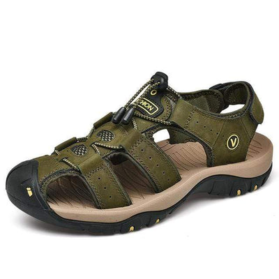 Army Green / 6.5 BAOLUMA Mens Black Sandals  -  Cheap Surf Gear