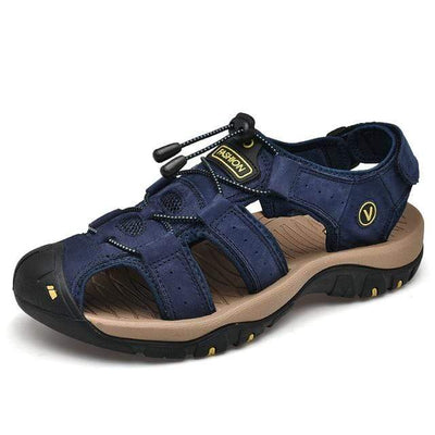 Blue / 6.5 BAOLUMA Mens Black Sandals  -  Cheap Surf Gear