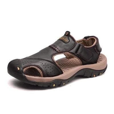 Brown 2 / 6.5 BAOLUMA Mens Black Sandals  -  Cheap Surf Gear
