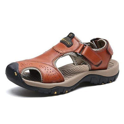 Red Brown 2 / 6.5 BAOLUMA Mens Black Sandals  -  Cheap Surf Gear