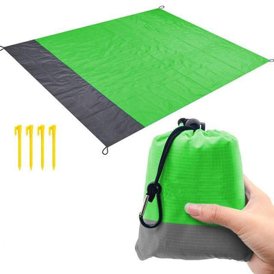 Green blanket / 82 x 79 inch BSWOLF Best Beach Mat  -  Cheap Surf Gear