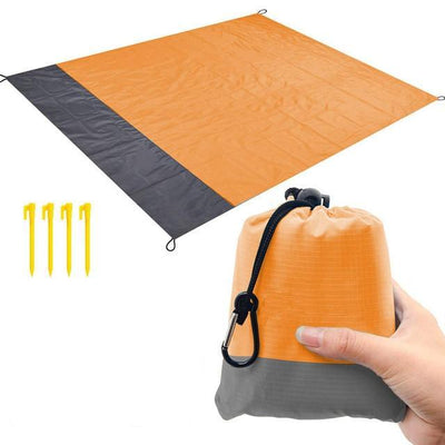 Orange blanket / 82 x 79 inch BSWOLF Best Beach Mat  -  Cheap Surf Gear