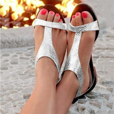 Silver / 5 C.NEW S Silver Sandals  -  Cheap Surf Gear