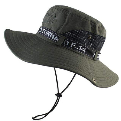 Army Green CAMOLAND Mens Sun Protection Hat  -  Cheap Surf Gear