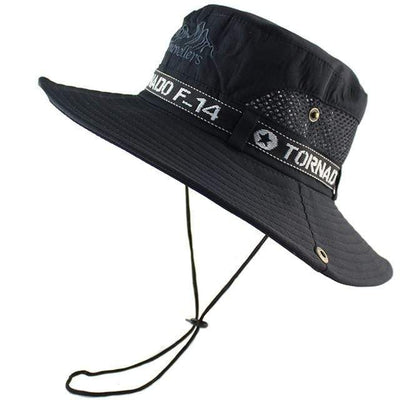 Black CAMOLAND Mens Sun Protection Hat  -  Cheap Surf Gear