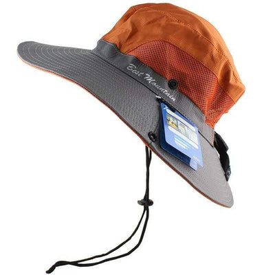 Orange CAMOLAND Sun Hat  -  Cheap Surf Gear