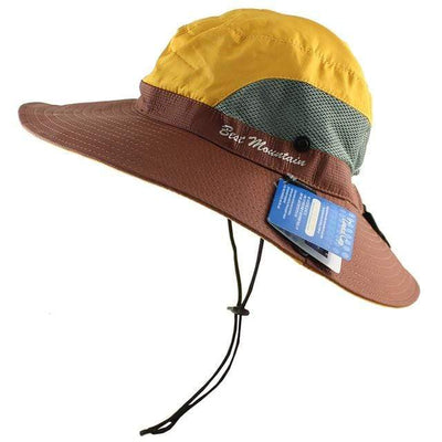 Yellow CAMOLAND Sun Hat  -  Cheap Surf Gear