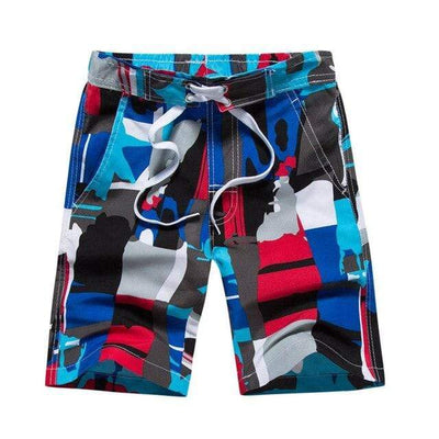 red-blue / Asian S CGS Boys Board Shorts  -  Cheap Surf Gear