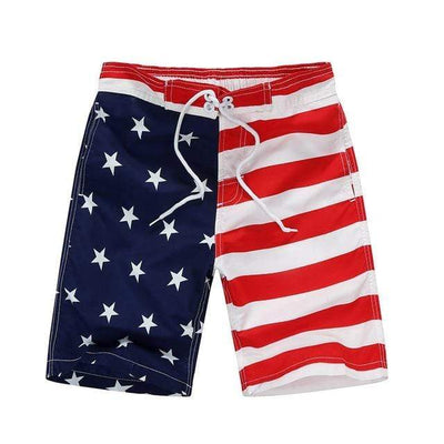 red-white / Asian S CGS Boys Board Shorts  -  Cheap Surf Gear