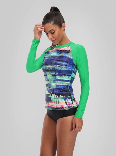 CHARM LEAKS Long Sleeve Swim Top  -  Cheap Surf Gear