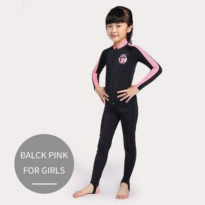 FOR GIRLS black pink / S CRESSI Lycra Suit - Men / Women / Kids  -  Cheap Surf Gear