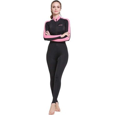 Lady Black Pink / XXL CRESSI Lycra Suit - Men / Women / Kids  -  Cheap Surf Gear