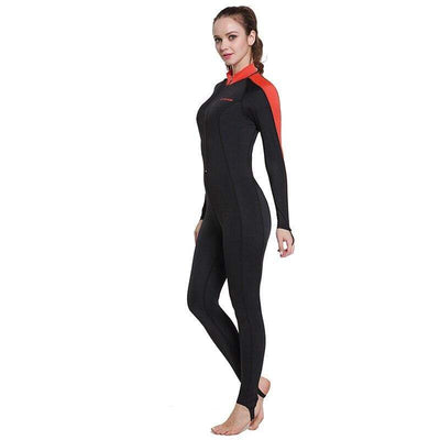Lady Black Red / XXL CRESSI Lycra Suit - Men / Women / Kids  -  Cheap Surf Gear