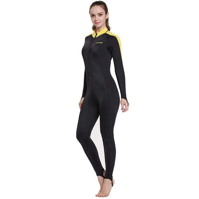 Lady Black Yellow / XXL CRESSI Lycra Suit - Men / Women / Kids  -  Cheap Surf Gear